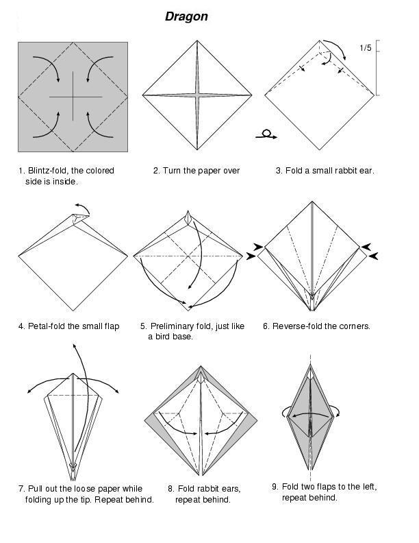 how to make origami dragon  u00ab how to make origami dragon