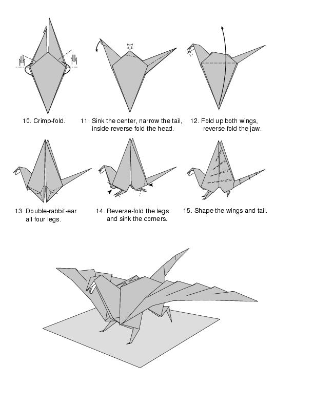 How to make origami dragon how to make origami dragon - Origami chat facile ...