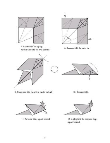HD Origami Flying Dragon Tutorial - YouTube | 487x376